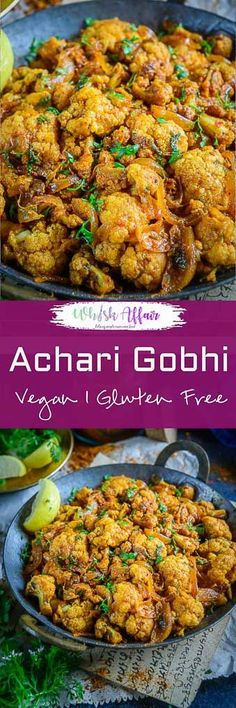 Achari Gobhi is a lipsmacking variation of the regular gobhi sabzi that you make at home. Serve with piping hot rotis and rice, you would love it! Vegeterian Dishes, Cooking Recipes, Healthy Recipes, Diet Recipes, Healthy Food, Yummy Food, Indian Food Recipes, Ethnic Recipes, Diwali Recipes