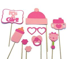 Girl Baby Shower Photo Booth  9 Piece Photo by CraftingbyDenise, $25.00