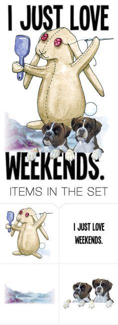 """Happy Weekend dear Friends!"" by crochetragrug ❤ liked on Polyvore featuring art"