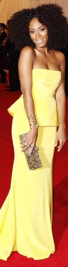 red carpet fashion dress #strapless #yellow - Rachel Roy dress