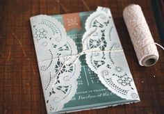 DIY Doily Wedding invitation Wrap | How to Make Wedding Invitations