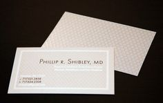 Dr. Phillip Shibley - professional business cards    Complete business card design criteria included: readability, unique design, meets professional standard. Unique details included a spot gloss design background giving a 3 dimensional look and feel.