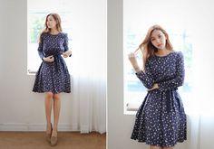 All Korean Fashion items up to 70%OFF! #tiewaistdress #patterneddress #alinedress #dress #minidress