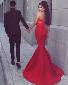 Mermaid Sweetheart Sleeveless Sweep/Brush Train With Ruched Satin Dresses - Prom Dresses - Hebeos Online Prom Picture Poses, Poses Photo, Prom Poses, Cheap Mermaid Prom Dresses, Mermaid Evening Dresses, Formal Evening Dresses, Dress Formal, Dress Prom, Formal Prom
