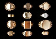 My recent infatuation with signet rings has led me down a deep rabbit hole, tracing it's fascinating history all the way back to in Ancient Egypt. For centuries, signet rings have been used to signify… Gold Jewelry, Jewelry Box, Jewelry Rings, Vintage Jewelry, Jewelry Accessories, Jewelry Design, Jewellery, Victorian Jewelry, Dainty Jewelry