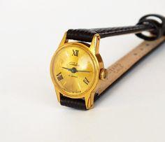 Vintage Women's Watch SLAVA Small Retro Wrist watch by USSRvintage