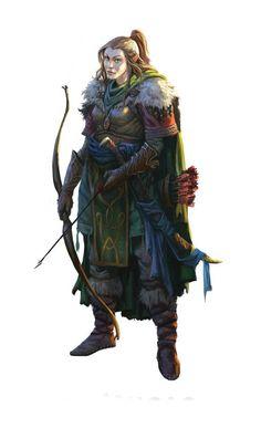 f High Elf Ranger Med Armor Longbow Sword traveler Image result for rise of the runelords character art