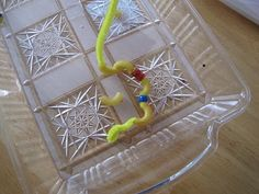 Elbow macaroni on pipe cleaners - Re-pinned by #PediaStaff.  Visit http://ht.ly/63sNt for all our pediatric therapy pins