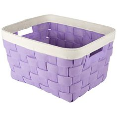Woven Canvas Storage Basket / Bin With Handles (Purple) Home Accents Http:/