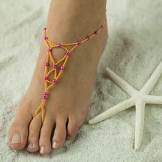 Bridesmaids Barefoot Sandals, Foot Jewelry. FREE SHIPPING $45.95. Made in all colors. www.beautifulbarefootsandals.com