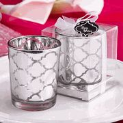 Candles are a long time favorite favor! Our Hampton Links Design Glass Votive Candle Wedding Favors offer a modern appeal of metallic. Candle Wedding Favors, Candle Favors, Beach Wedding Favors, Wedding Reception Decorations, Wedding Ideas, Wedding Ceremony, 1920s Wedding, Favours, Wedding Themes