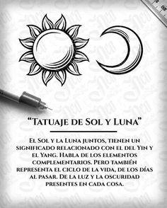 Significado tatuaje Sol y Luna - Marine And Land Vehicles Tattoos 3d, Mini Tattoos, Love Tattoos, Tattoo Drawings, Body Art Tattoos, Small Tattoos, Tattoos For Women, Tatoos, Luna Tattoo