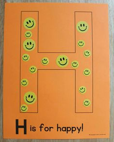 H is for happy! Editable alphabet pages for phonological awareness. Alphabet activities for preschool, pre-k, and early childhood education. Create a letter book or use for letter of the week activities. Preschool Letter Crafts, Alphabet Letter Crafts, Abc Crafts, Alphabet Book, Preschool Curriculum, Preschool Education, Toddler Alphabet, Kindergarten, Letter Tracing