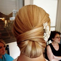 Simple but classic chignon.  :) www.cottonrouge.com