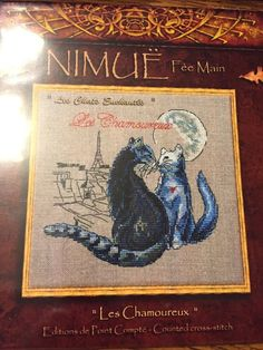 Les Chamoureux Cats Enchanted Cat Nimue Fee Main Counted Cross Stitch Pattern #nimuefeemain #crossstitchpattern