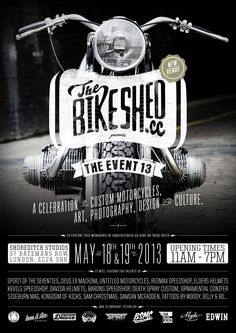 THE BSMC EVENT – NEW VENUE :: The Bike Shed