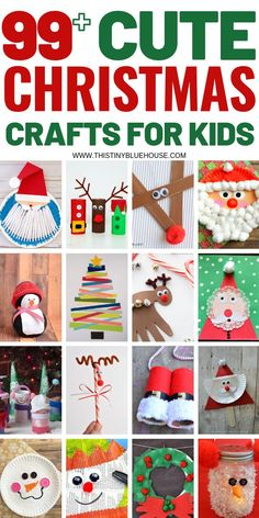 Help your kiddos get into the festive holiday spirit by making one or more of these super cute adorable Christmas Crafts for kids. With over 100 Cute Holiday Crafts to pick from I guarantee you'll have a hard time choosing just one! - Christmas with Kids Christmas Crafts For Toddlers, Easy Christmas Crafts, Toddler Crafts, Preschool Crafts, Christmas Fun, Fun Crafts, Festive Crafts, Diy Ornaments For Kids, Christmas Activities For Children