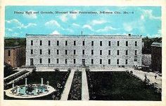 Jefferson City Missouri MO 1920s State Penitentiary Dining Hall Vintage Postcard
