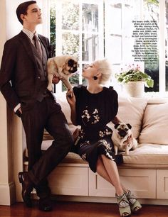 Ollie Henderson and Brendan Francis by Hugh Stewart for Marie Claire Australia (November 2011).