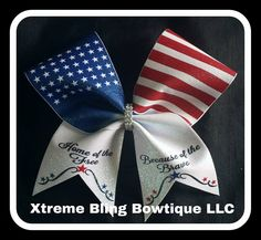 Cheer Bow-4th of July