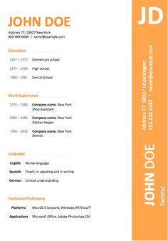 Free 6 Microsoft Word Doc Professional Job Resume and CV Templates ...