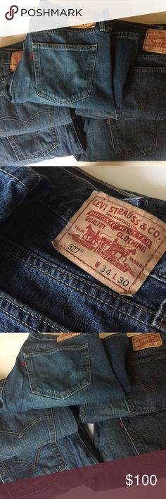 527 Levi Strauss & Co. Jeans A bundle of 5 pairs of men's 527 Levi Strauss & Co. bootcut Jeans. Size W 34 L 30. Like new. Hardly worn if at all. Please look at photos - there are different shades of blue and different color back pocket stitching. Levi's Jeans Bootcut