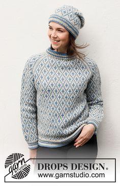 Ladies Cardigan Knitting Patterns, Knitting Patterns Free, Free Knitting, Drops Design, Pullover Sweaters, Men Sweater, Magazine Drops, Fjord, Yarns
