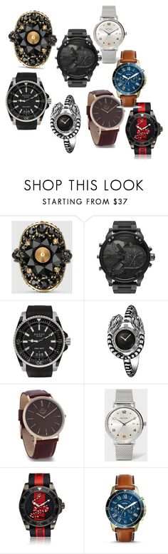 """Watches Collection"" by sam11-882 ❤ liked on Polyvore featuring Gucci, BillyTheTree, Paul Smith and FOSSIL"
