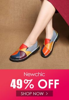 c880486ded Socofy SOCOFY Soft Handmade Splicing Colorful Genuine Leather Stiching Slip  On Casual Flat Loafers is cheap and comfortable. There are other cheap  women ...