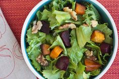 Gojee - Winter Green Salad with Butternut Squash and Beets by What Would Cathy Eat