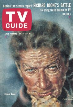 TV Guide, August 31, 1963 - Richard Boone