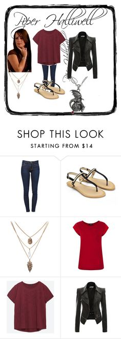 """Piper Halliwell Style"" by queen-mc-derp ❤ liked on Polyvore featuring Frame Denim, Warehouse, Zara, Carolina Glamour Collection, supernatural, witch, charmed, Wiccan and piperhalliwell"