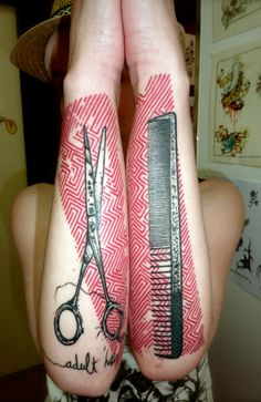 Hairdresser tattoo life tattoos piercings pinterest for Jobs that allow piercings tattoos and colored hair