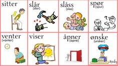 Norsk verbs Norwegian Words, Norway Language, Chinese English, Learning, Girls, God Is Faithful, Vocabulary, Languages, Words