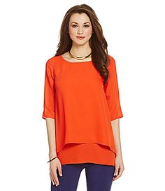 Gibson and Latimer Tiered Blouse #Dillards