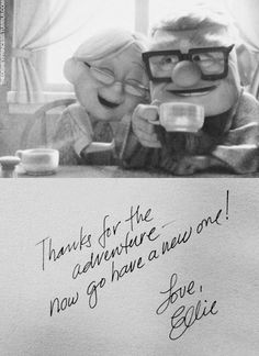 Up! Confession: This is my favorite movie and it actually makes me cry every time I watch it...