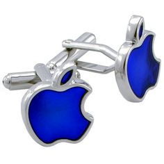 Apple Cufflinks via Offbeat Bride. Click the photo to link to their article with more super cool, ultra geeky cufflink ideas!
