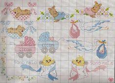 Cross stitch charts for newborns.