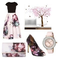 floral by mirsin on Polyvore featuring polyvore fashion style Ted Baker clothing
