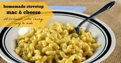 It was so good, it was never considered a side dish. It was the main course. That's how homemade mac and cheese became my favorite comfort food, but the...