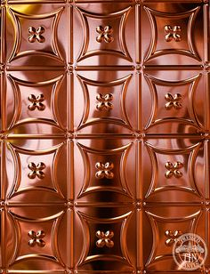 Copper Carnivale Metal Ceiling, Ceiling Panels, Pressed Metal, Den, Copper, Walls, Display, Pattern, Floor Space