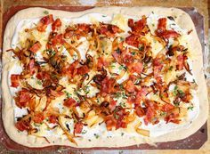 The Hungry Hounds— Bacon and Caramelized Onion Flatbread, Flammkuchen