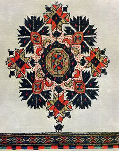 Costume and embroidery of Skopska Blatija, Macedonia - an article with patterns  on folkcostume.blogspot.com