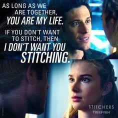 "S3 Ep9 ""Kill It Forward"" - Find us a boyfriend like Cameron Goodkin ASAP. Please and thank you. ❤️ #Stitchers"