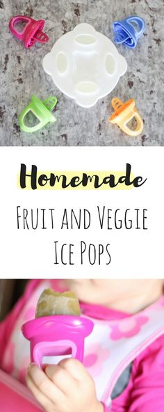 Fruit and Veggie Ice Pops | Homemade | How to get your toddler to eat veggies | My toddler won't eat vegetables, but she loves these pops! | Best way to get veggies in your toddlers belly | Best Popsicle | Busy Little Izzy Blog #partner #nuby