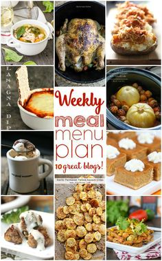 Weekly Meal Plan Week 9 - 10 top bloggers bringing you 6 dinner recipes, 2 side dishes and desserts to make a quick, easy, and delicious week! | Roxana's Home Baking 9/14