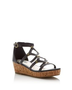 Steve Madden Girls' Castela Caged Cork Wedge Platform Sandals - Little Kid, Big Kid