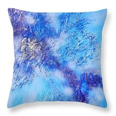 Abstract Art - The colors of winter Throw Pillow by Sabina Von Arx Green Bedding, Creative Colour, Luxury Bedding Sets, Pillow Sale, Season Colors, Basic Colors, Painting Techniques, Comforter Sets, Colorful Backgrounds