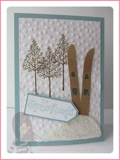 Stampin (disambiguation) Stampin may refer to: Ski Card, Explosion Box, Snow Skiing, Diy Cards, Stampin Up, Birthday Cards, Diy And Crafts, Birthdays, Presents