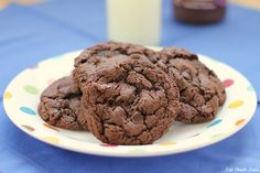 Chocolate Hazelnut Cookies - Rich chocolatey cookies made with Nutella!